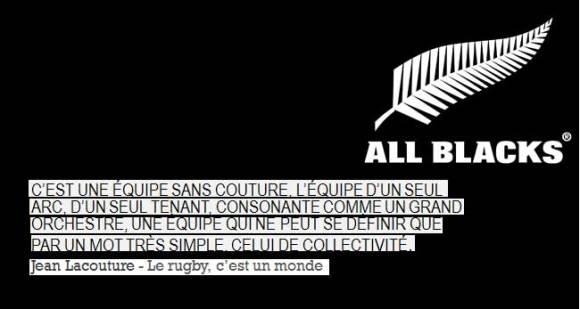 C'EST UNE EQUIPE SANS COUTURE, L'EQUIPE D'UN SEUL ARC, D'UN SEUL TENANT, CONSONANTE COMME UN GRAND ORCHESTRE, UNE EQUIPE QUI NE PEUT SE DEFINIR QUE PAR UN MOT TRES SIMPLE, CELUI DE COLLECTIVITE.  Jean Lacouture
